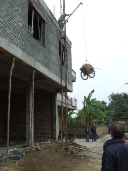 'Brick Lift' - Yangmei, Guangxi - Dec 2009
