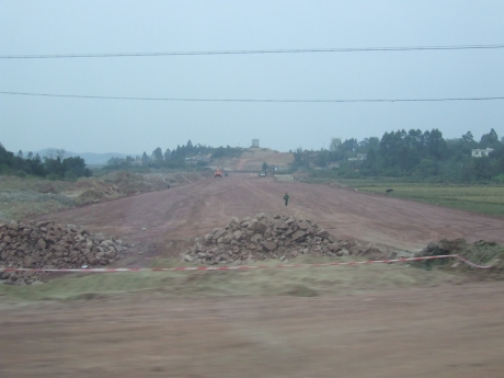 Route of new road being prepared for construction