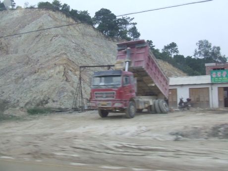 Karst Landscape destruction 1 - Dec 2009