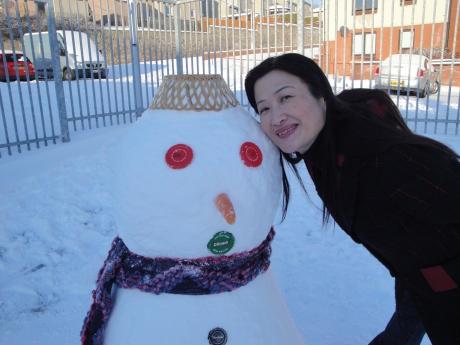 Amanda and Frosty