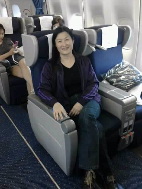 Amanda in KLM Business Class