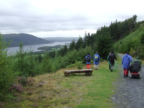 Amanda and some of the group above Bassenthwaite Lake